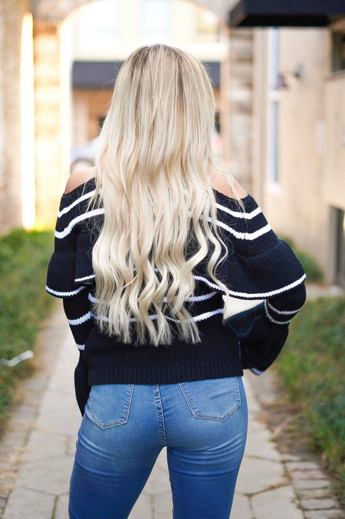 Caught Up Cold Shoulder Sweater