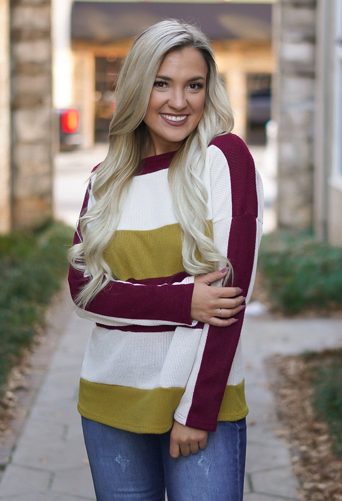 Cozy Color Block Top