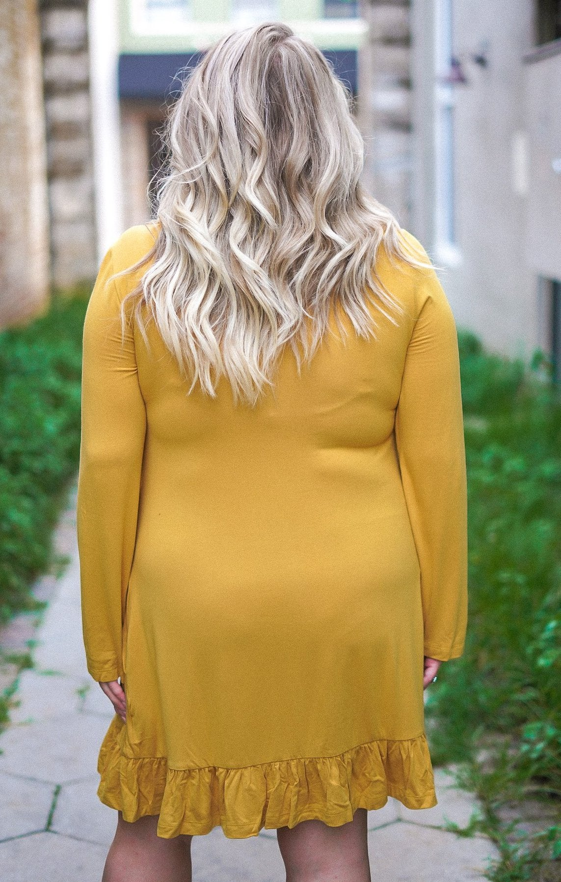 Keeper of the Flames Dress - Mustard
