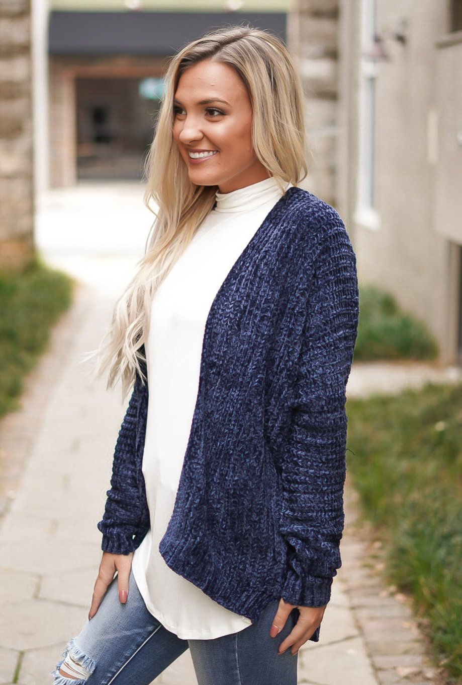 Grace Cardigan - Navy