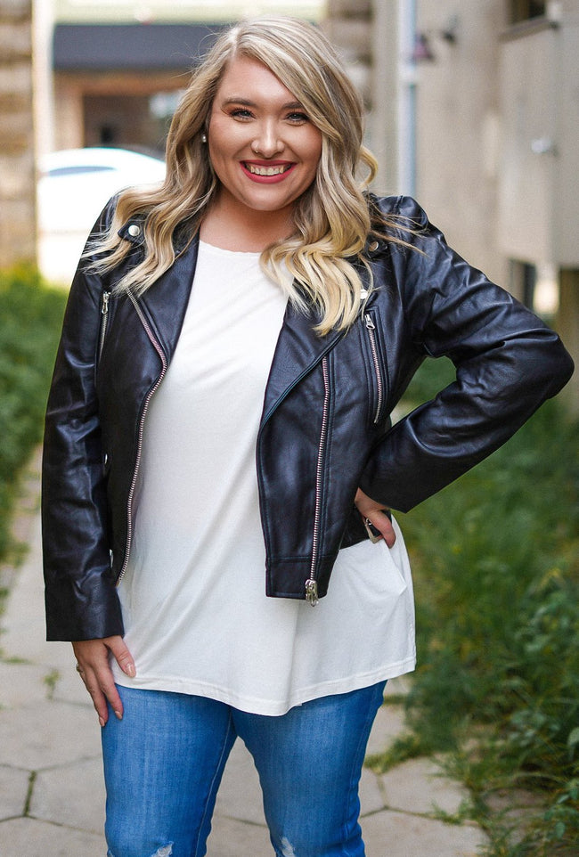 Moto Faux Leather Jacket