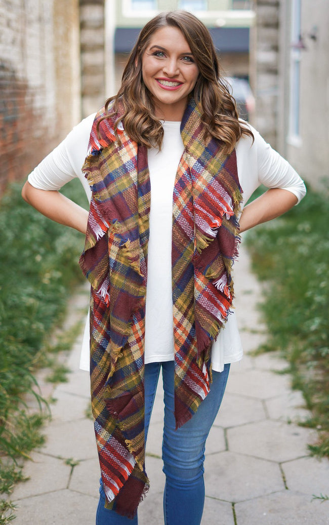 Crisp Fall Air Blanket Scarf