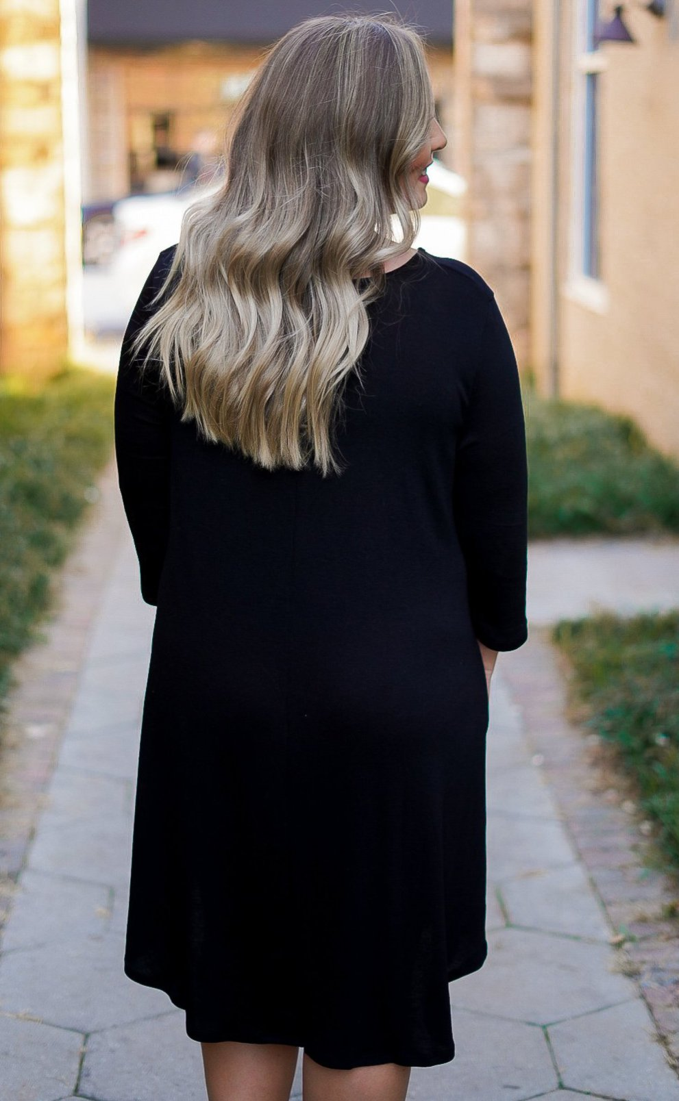 Big City Sweater Dress - Black