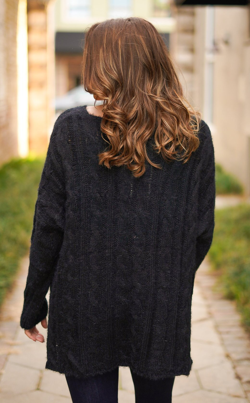 Get Your Shine On Sweater - Black