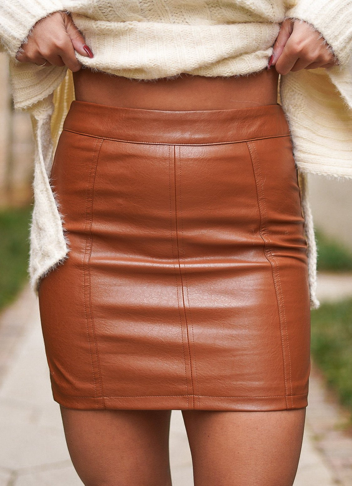 Laurel Faux Leather Skirt