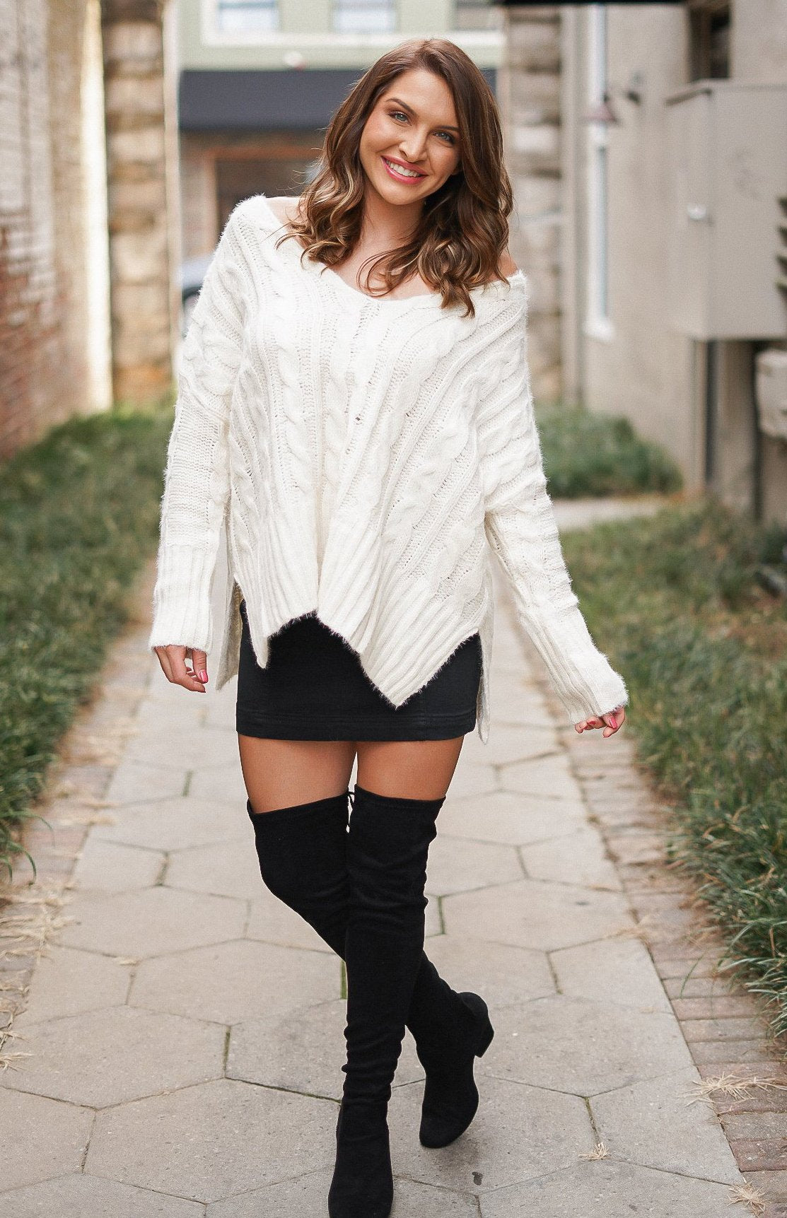 Get Your Shine On Sweater - White