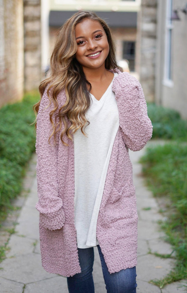 One Kiss Cardigan - Mauve