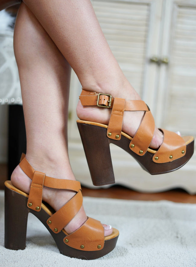 Juliana Peep Toe Heels