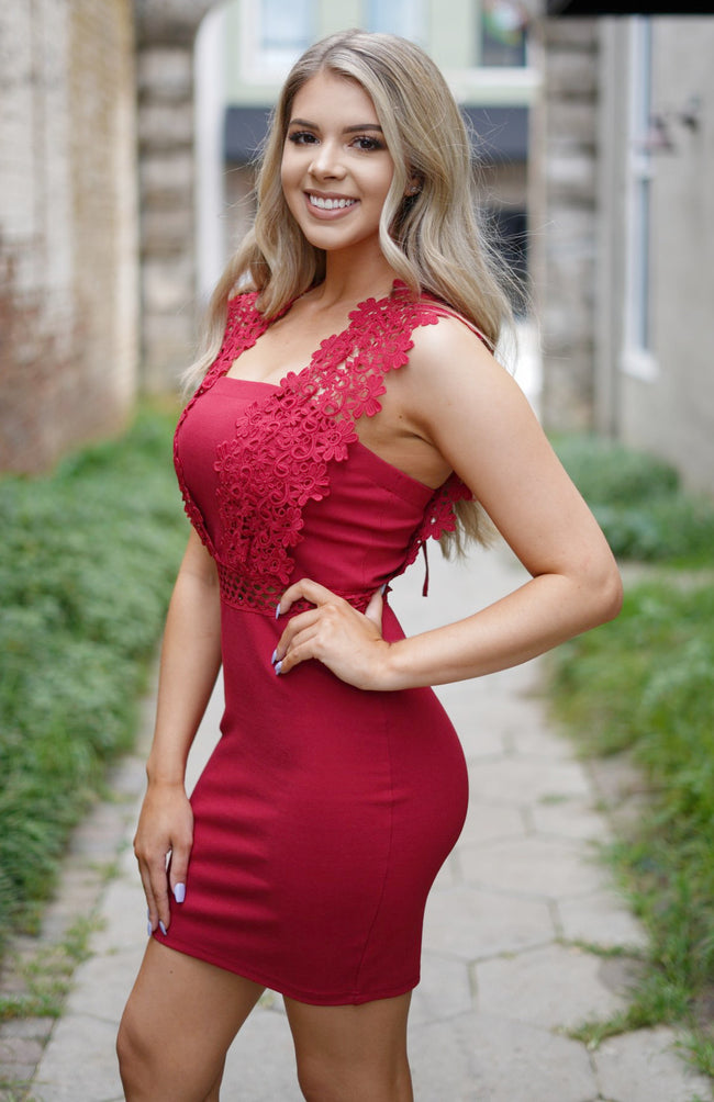 Ruby Red Bodycon Dress