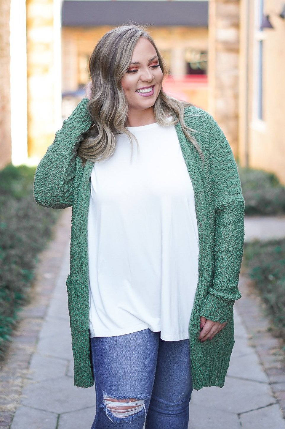 Habits of My Heart Cardigan - Olive