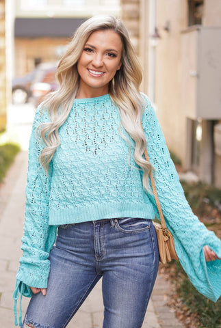 Like a River Lace Neck Top