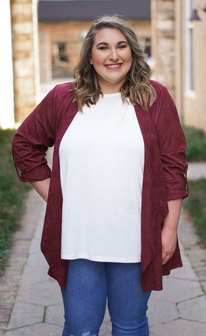 Falling for You Tunic - Burgundy