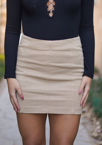 Saving Grace Faux Leather Skirt