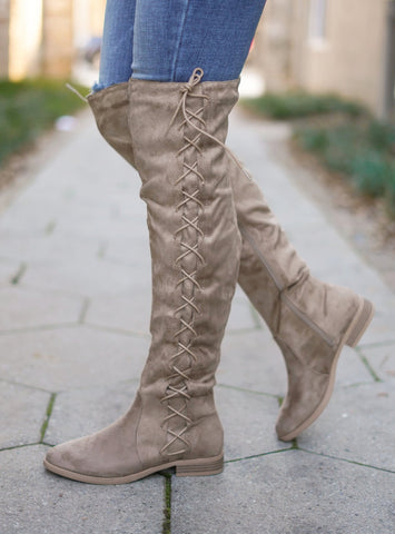 Victoria Lace Up Boots