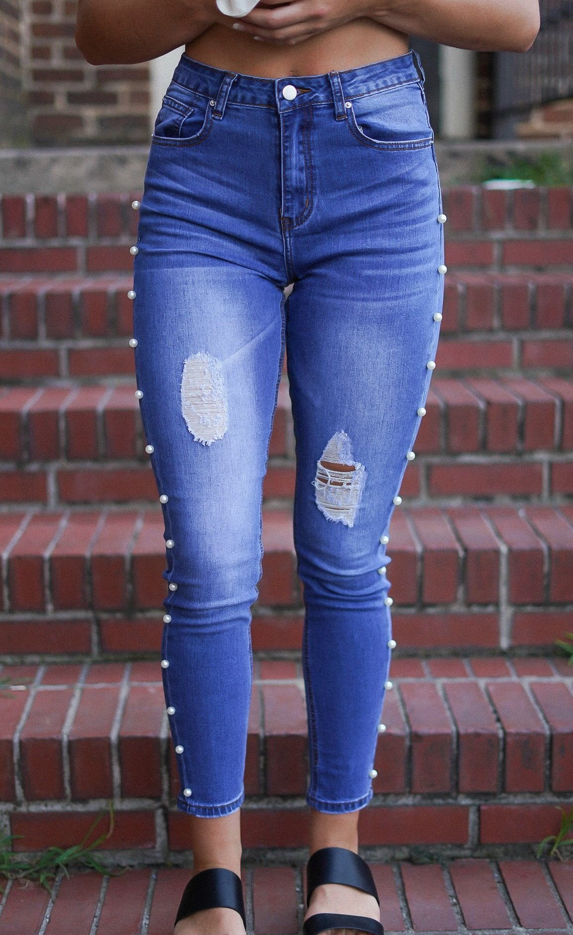 Side Pearl Denim