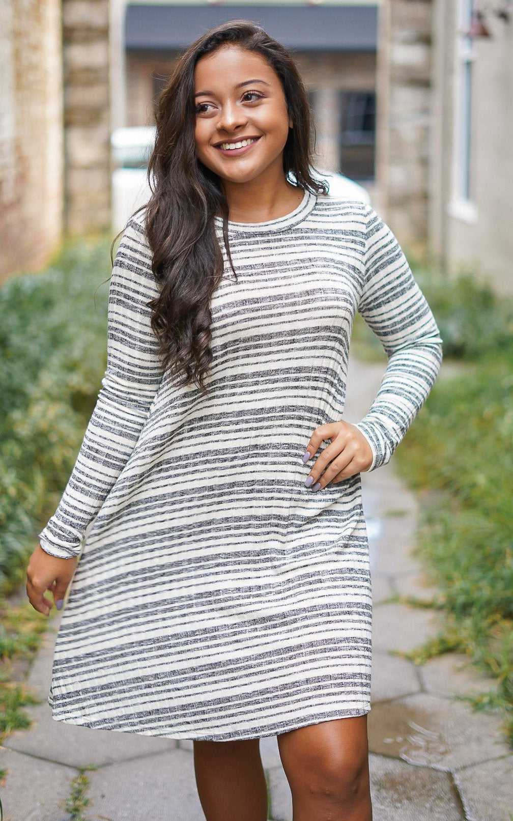 On My Mind Striped Dress