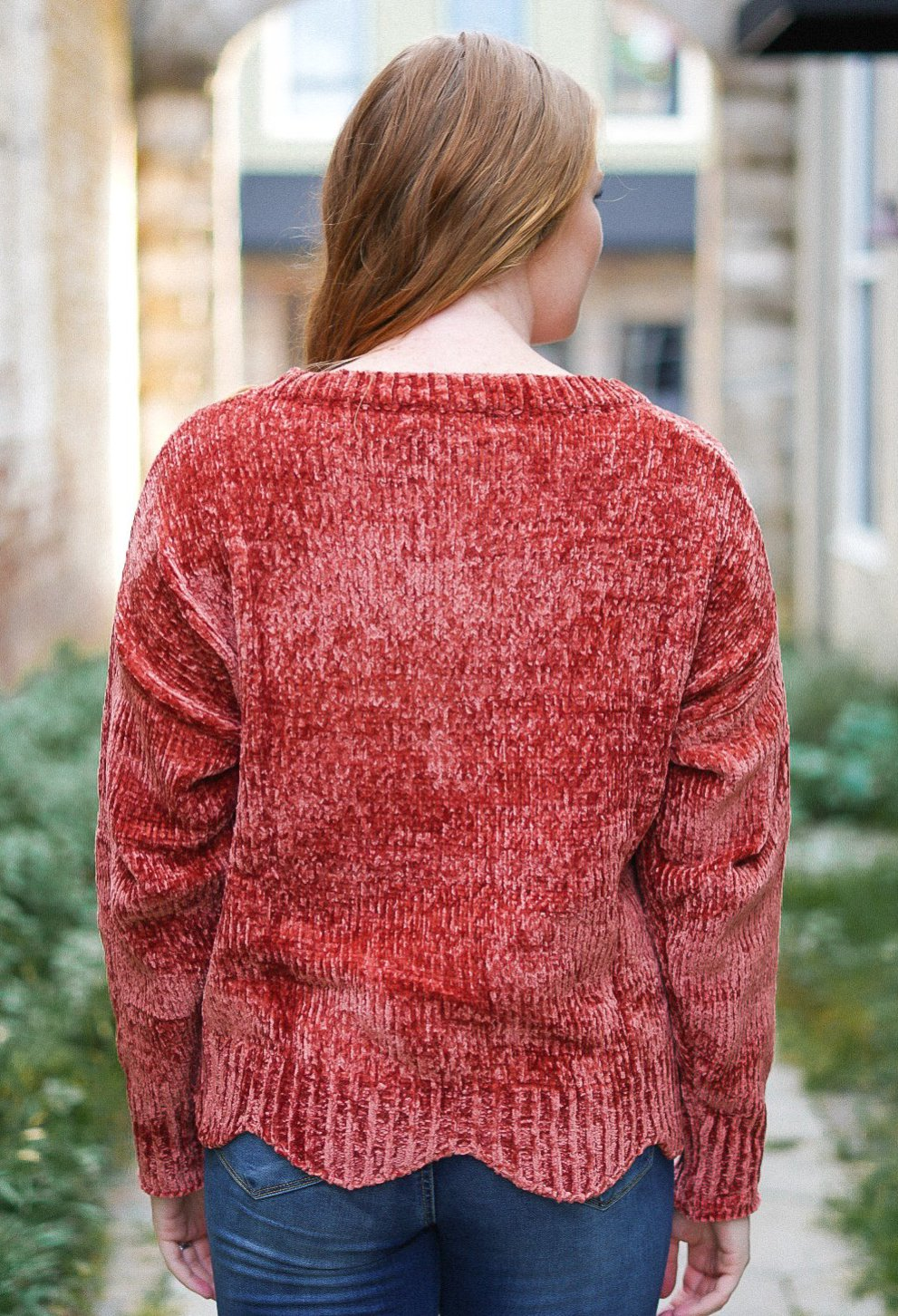 On the Terrace Sweater - Rust