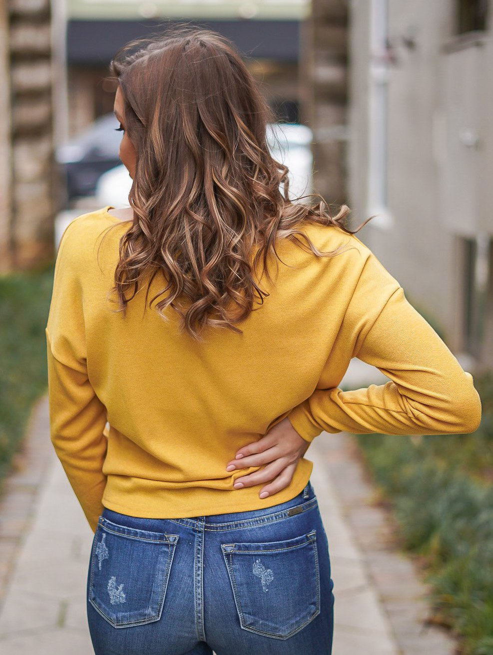 Ray of Sunshine Twist Top