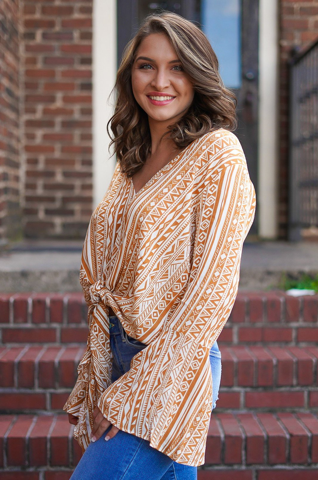 Jump Into Fall Tie Top