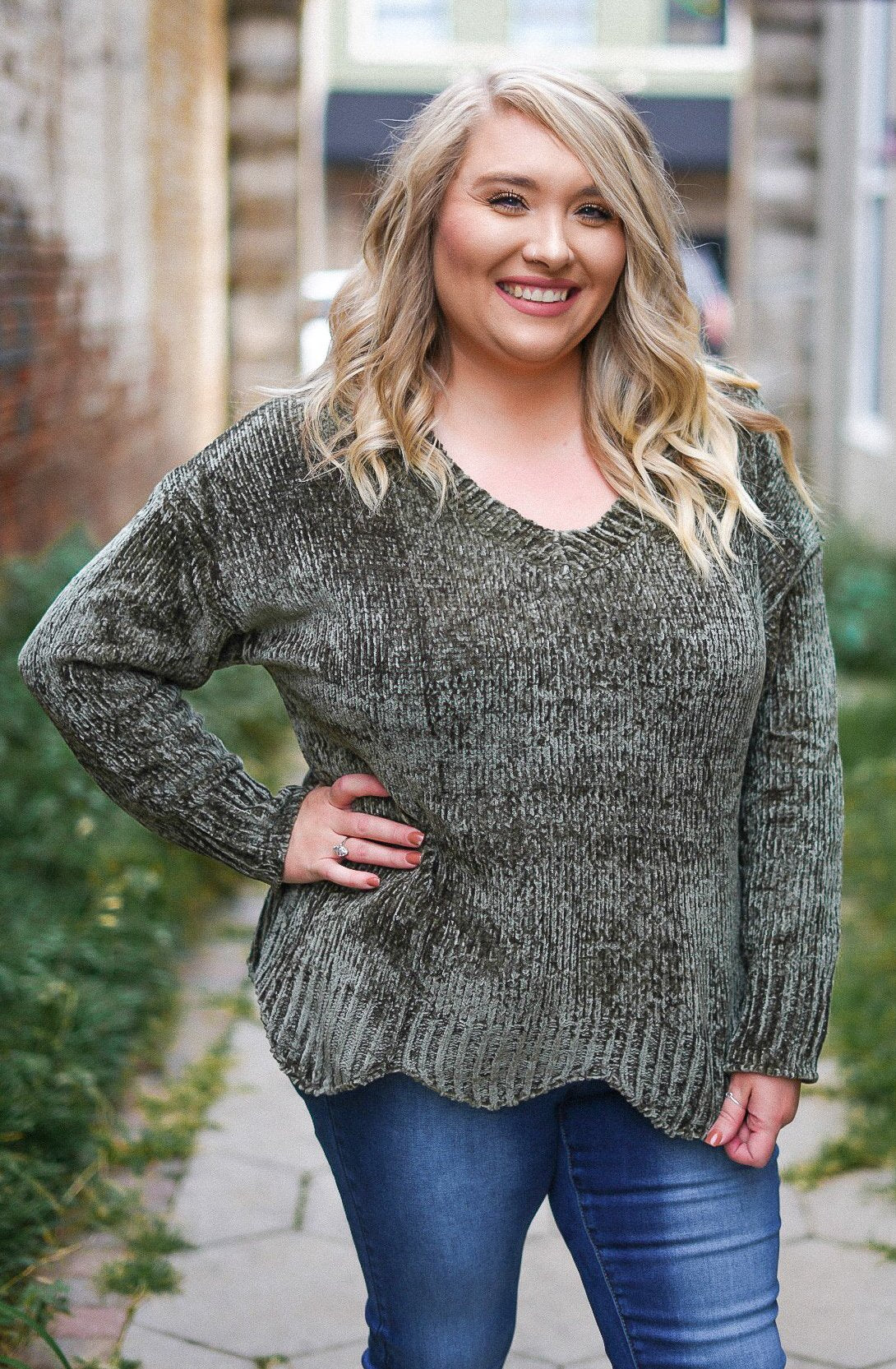 On the Terrace Sweater - Olive