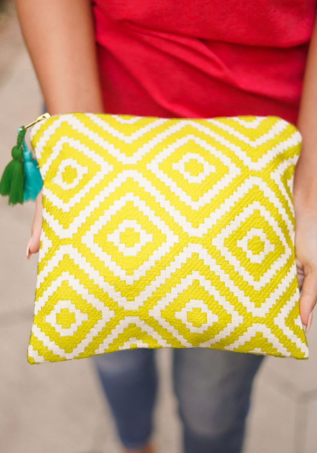 Cosmetic Bag - Yellow Geo