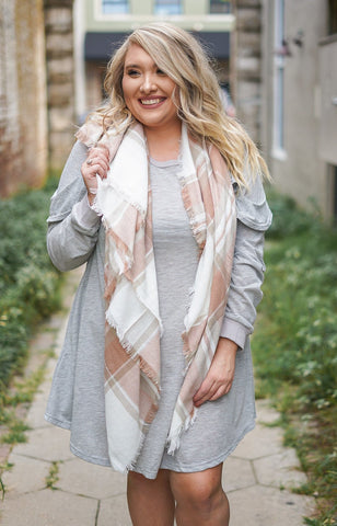 Candy Apple Blanket Scarf