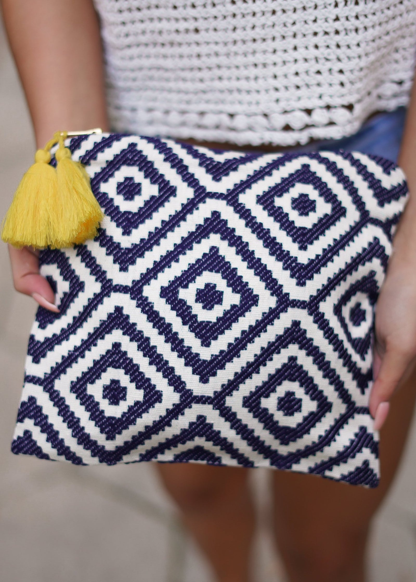 Cosmetic Bag - Navy Geo