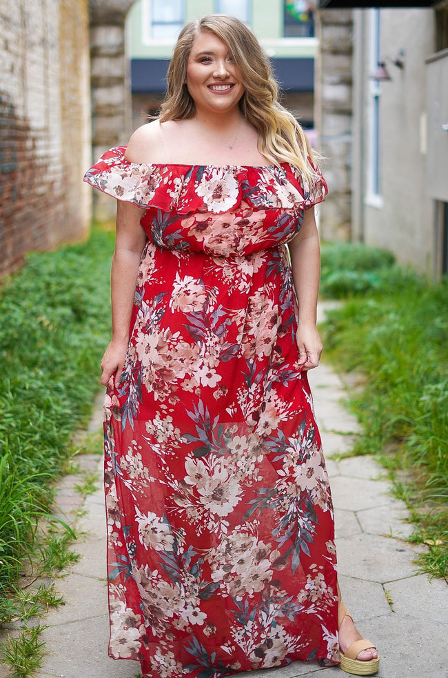 Always Worth It Floral Maxi