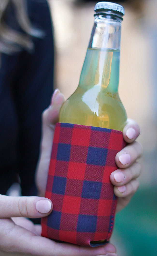 Buffalo Plaid Koozie
