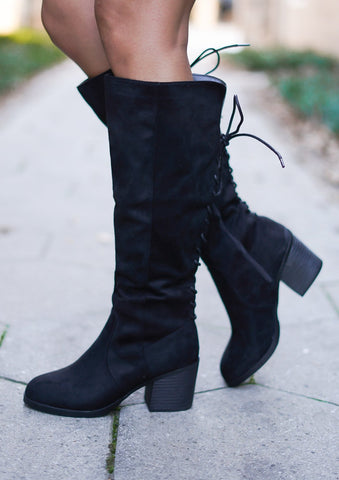 Showcase Studded Boots - Black