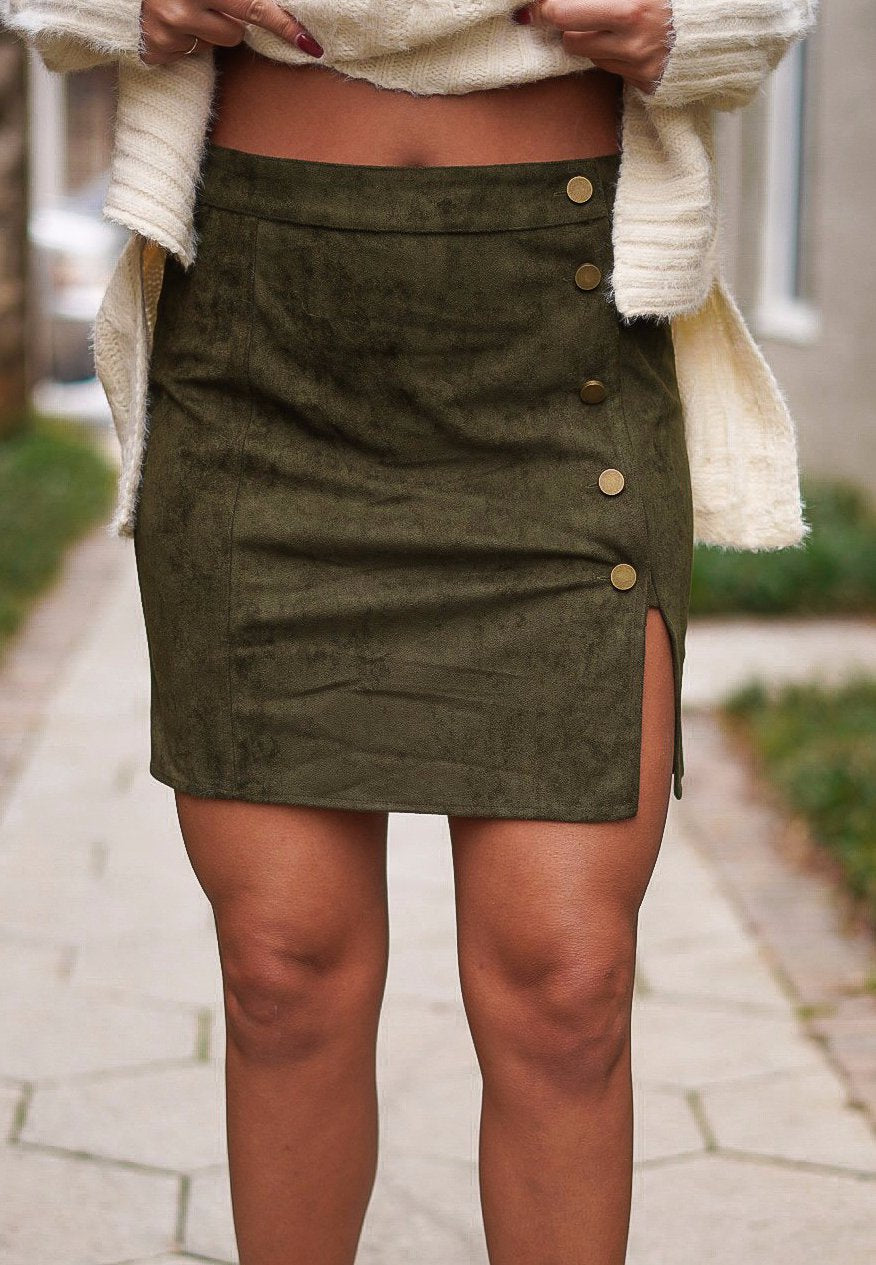 New Beginnings Skirt - Olive