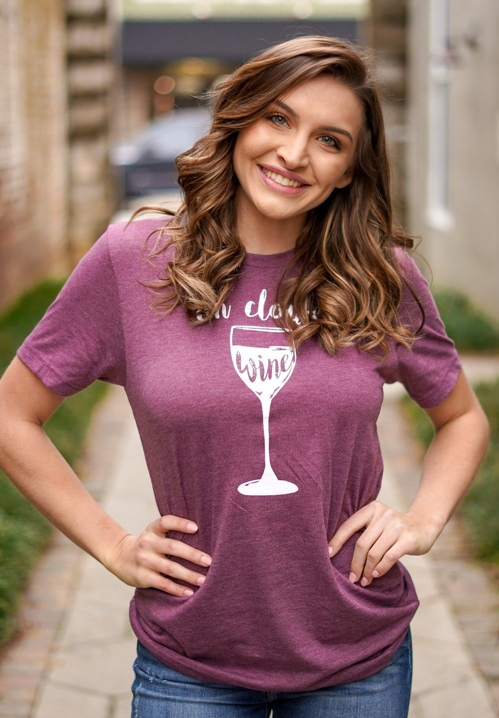 On Cloud Wine Tee