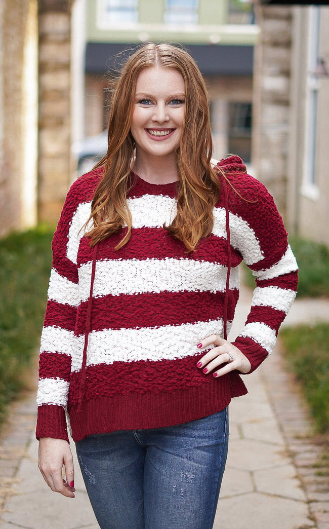 Live It Up Sweater - Burgundy