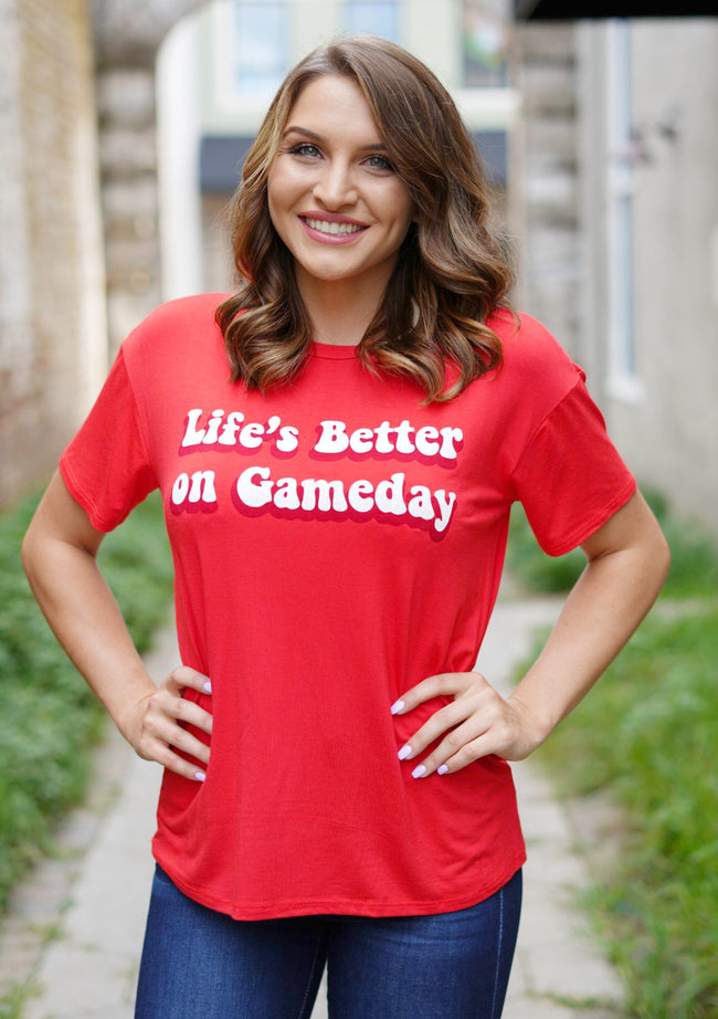 Life's Better On Gameday - Red