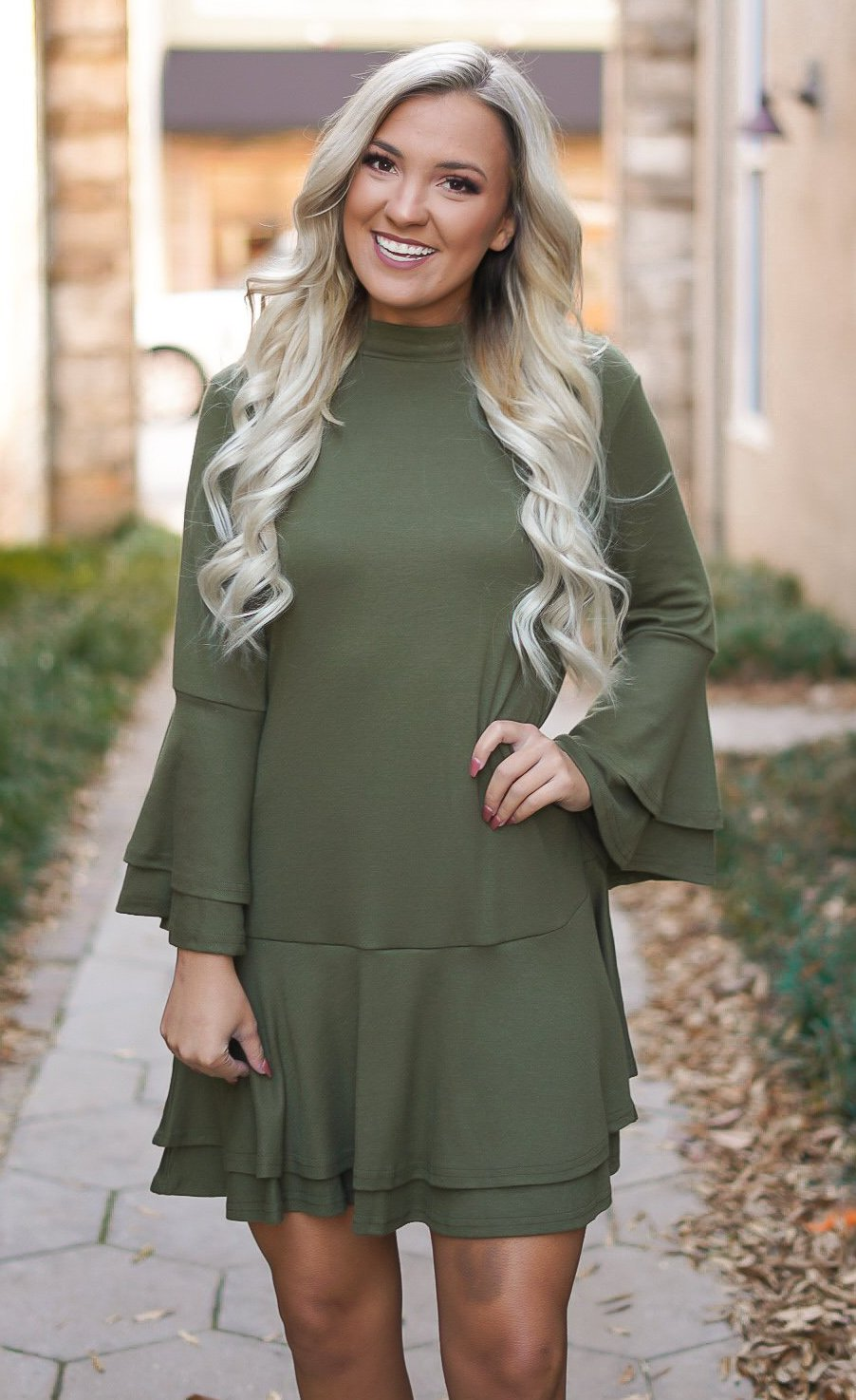 What's On Your Mind Dress - Olive
