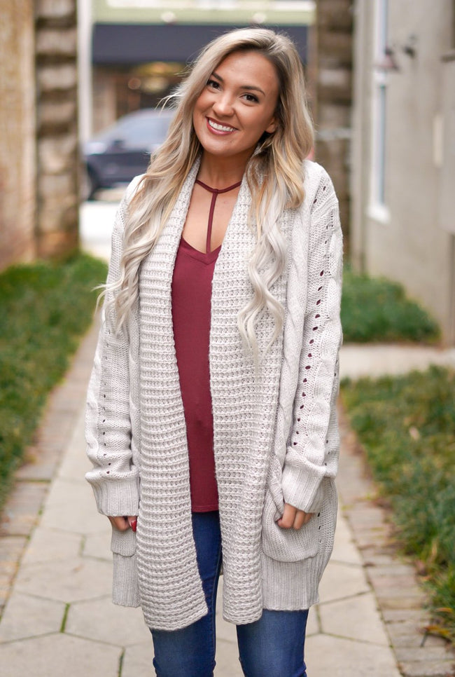 Toasted Marshmallow Cardigan - Grey