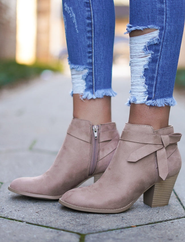 Arden Booties - Taupe