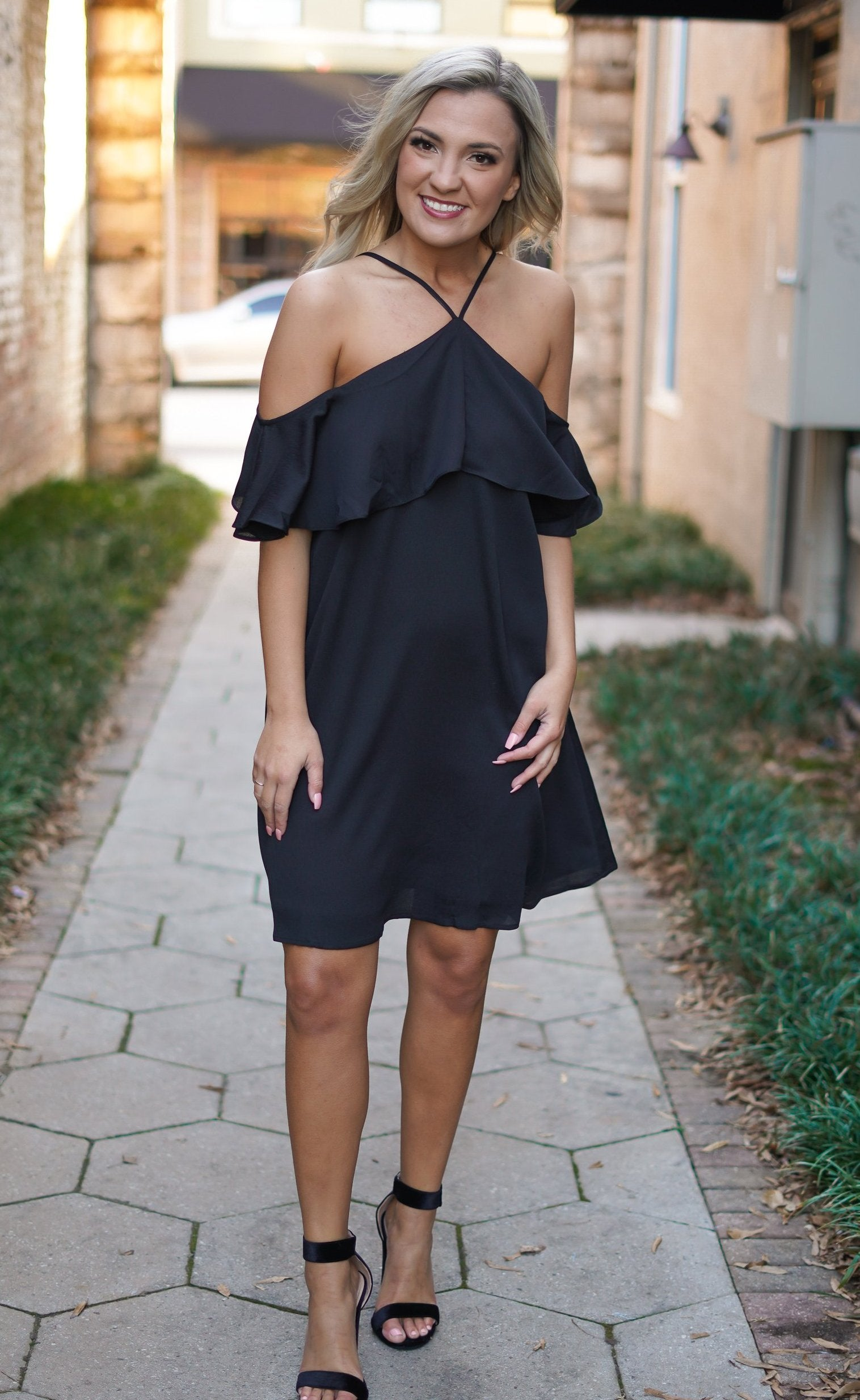 Shamelessly Chic Shift Dress - Black