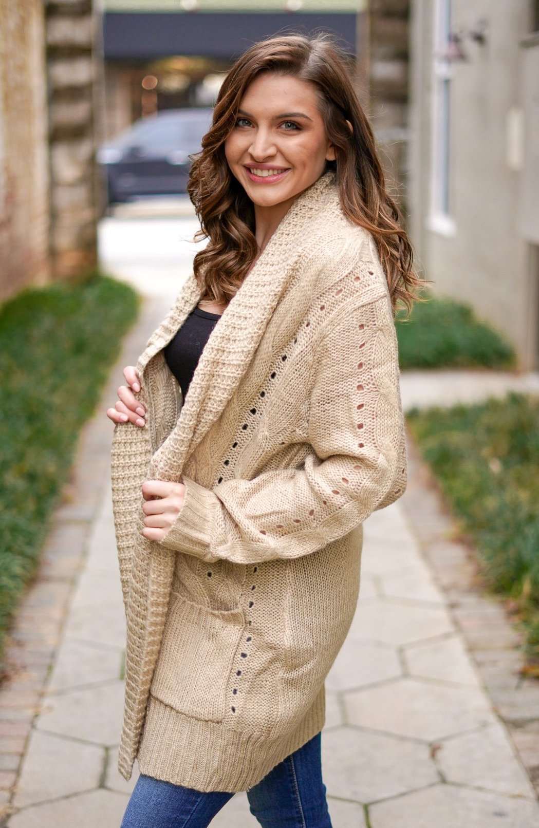 Toasted Marshmallow Cardigan - Tan
