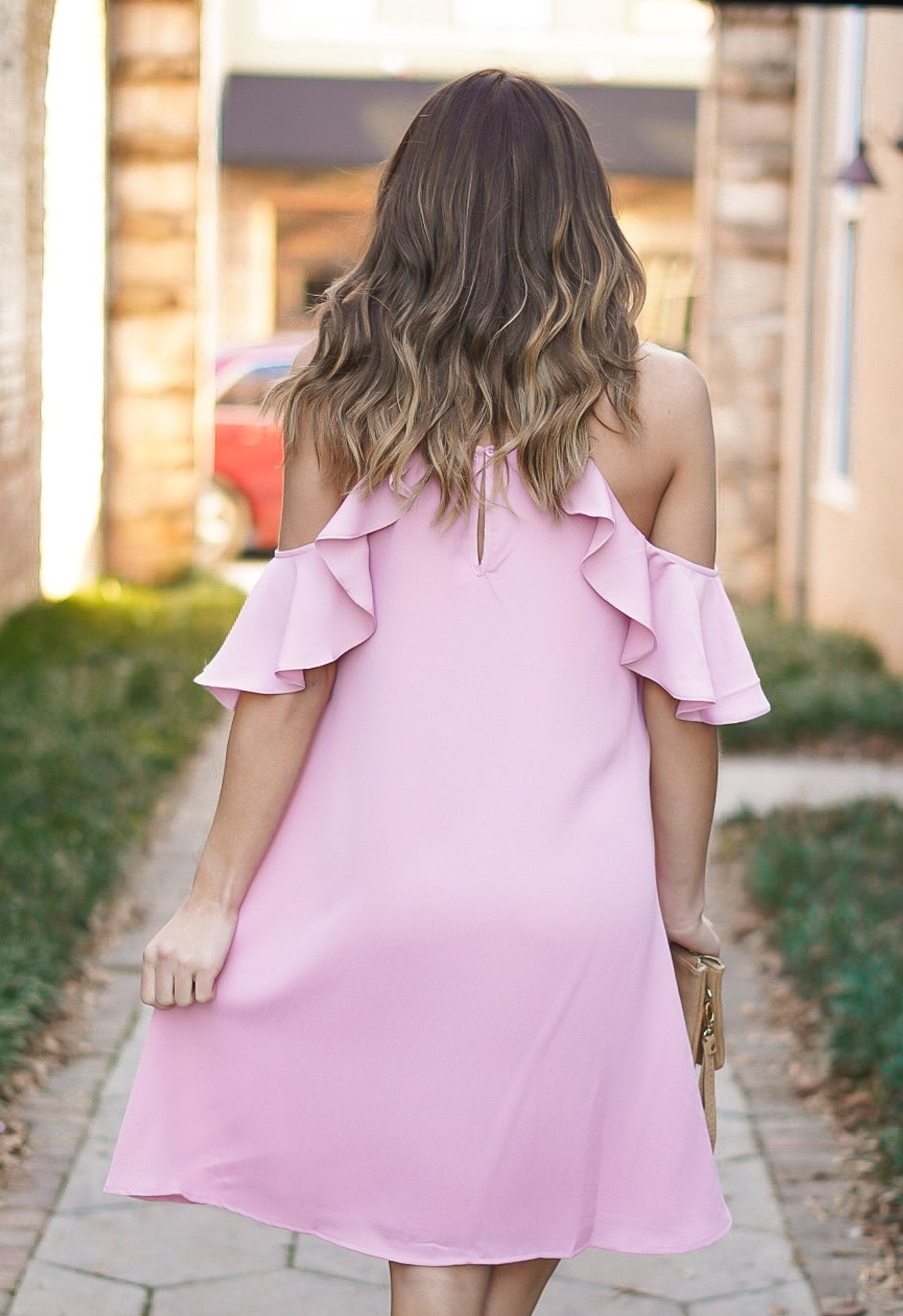 Shamelessly Chic Shift Dress - Mauve