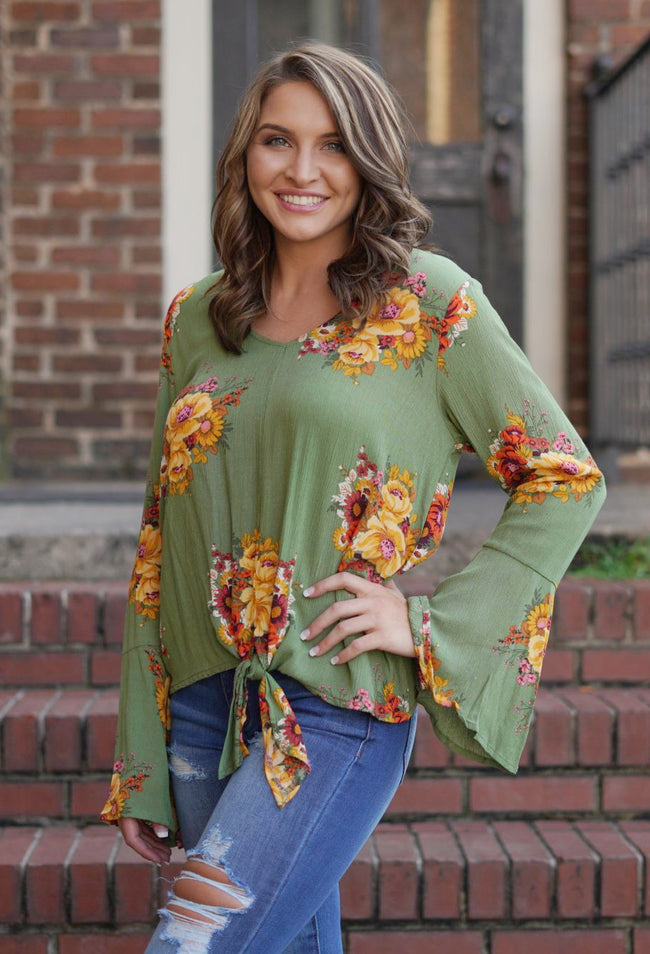 Let's Get Lost Floral Top