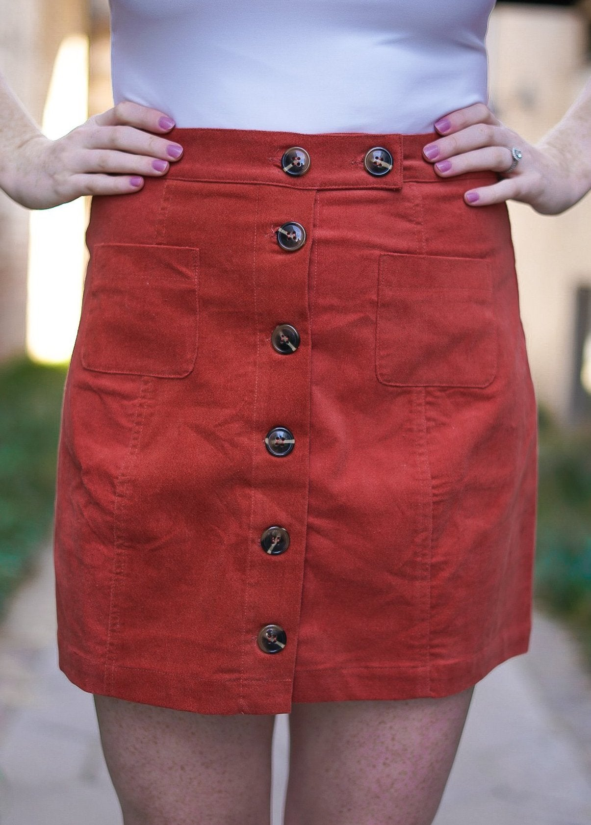 Bittersweet Button Up Skirt