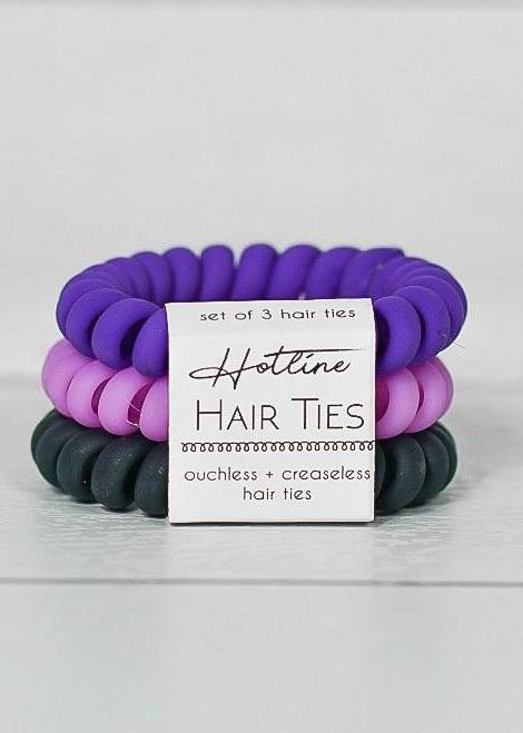Got Your Back Hair Ties - Ultra Violet Matte