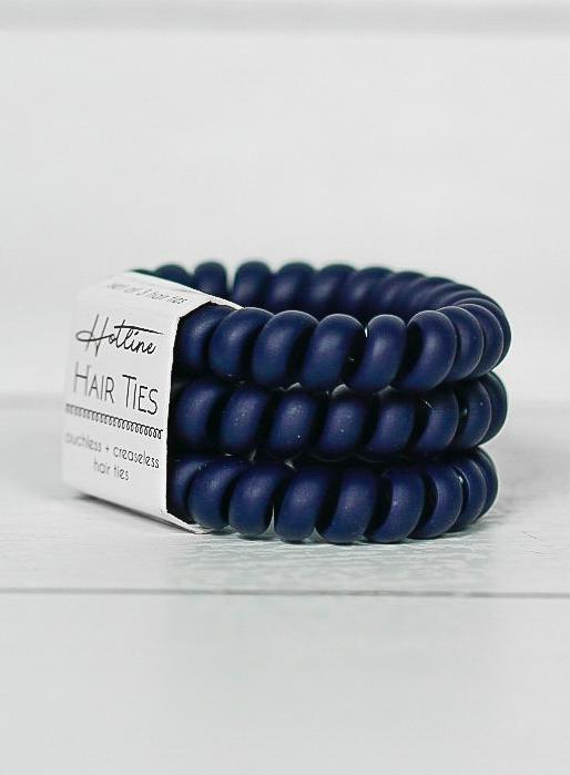 Got Your Back Hair Ties - Matte Navy