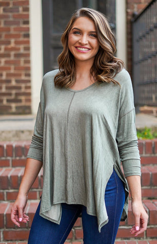 Hooked On You Knit Top - Hunter Green