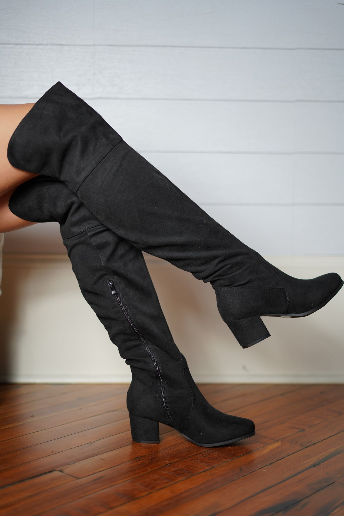Walk That Walk Thigh High - Black