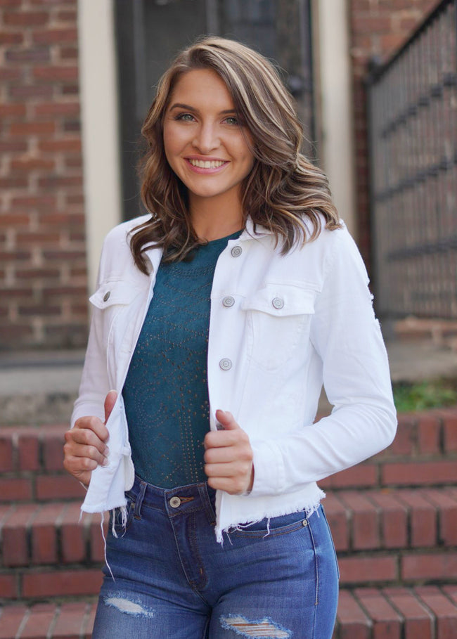 White Lily Denim Jacket