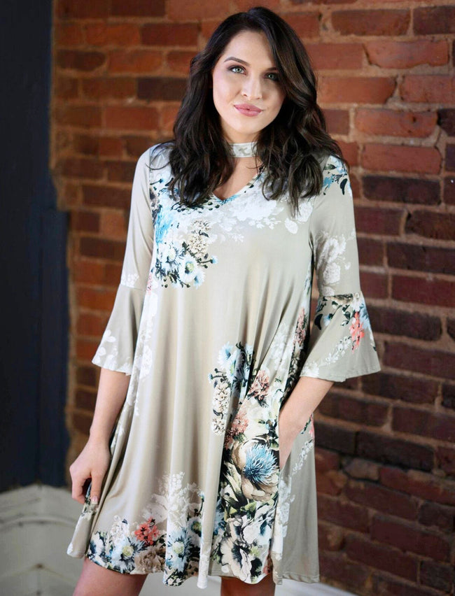 Veronica Floral Swing Dress