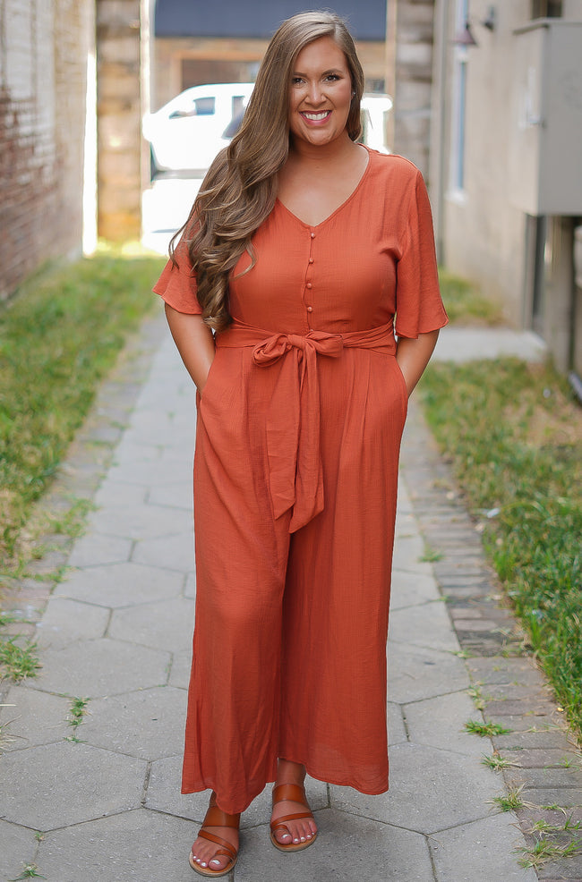 Pumpkin Jumpsuit - Rust