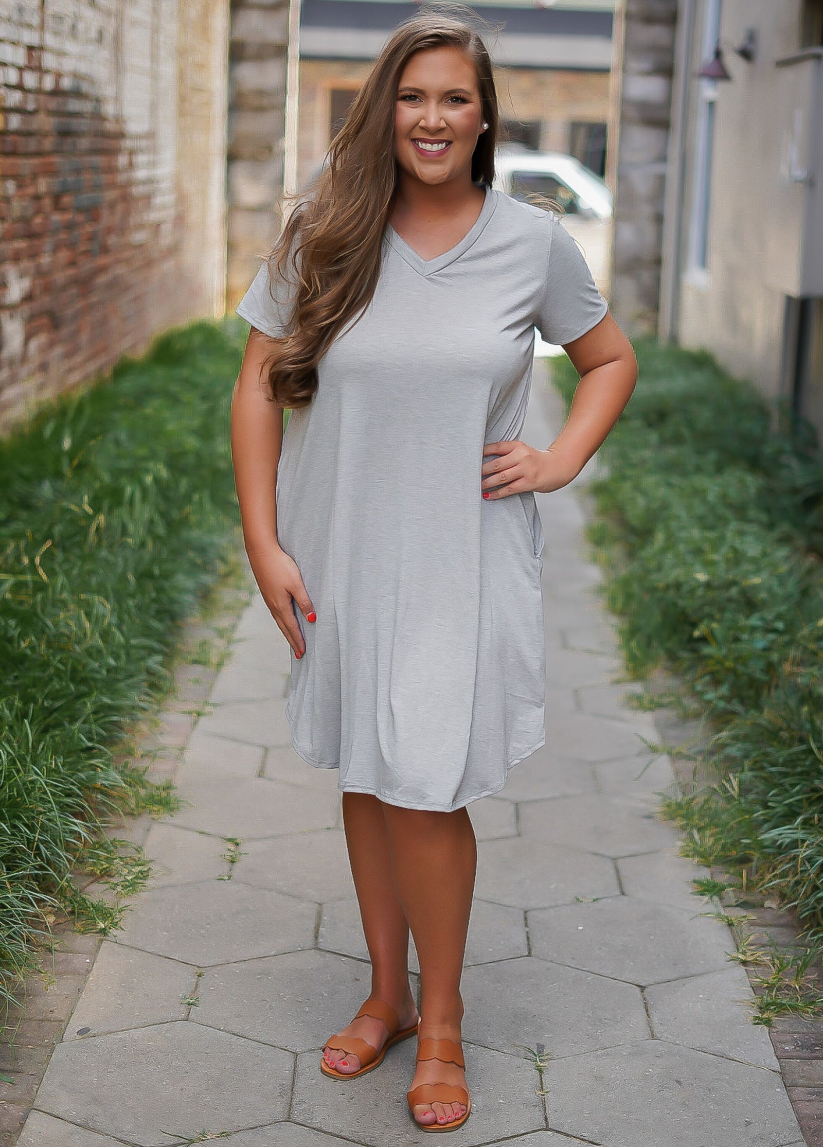 T-Shirt Dress - Grey